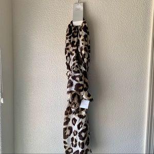 NWT 14th & Union Leopard Scarf/Wrap
